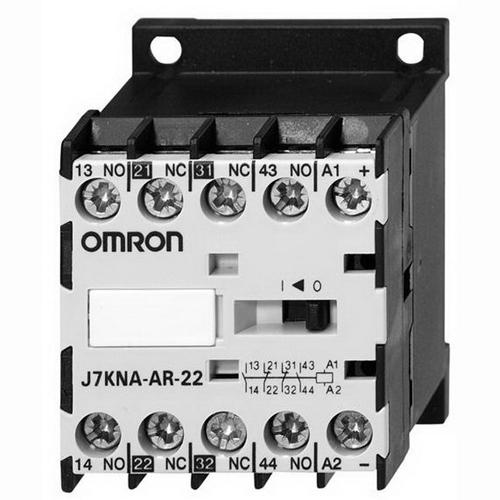 Omron 12010-4222 J7KNA-Ar-22-110 AC Operated Mini Contactor Relay; 110 - 115/120 - 125 Volt, 2 NO/2 NC, 4 Pole, 10 Amp