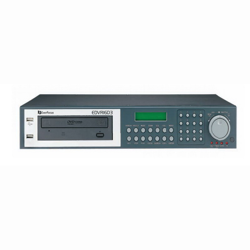 """""Everfocus Electronics Corp EDVR16D3/500 Digital Video Recorder 16-Channel, 500 GB,"""""" 372452"