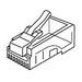 Gruber 18-4013 Round Solid Wire RJ45 Modular Plug; 8P8C