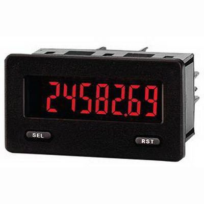 Red Lion CUB5TB00 Elapsed Preset Timer and Cycle Counter with Backlight Display (Red/Green); 0 to 9999999 Hour, 9 - 28 Volt DC