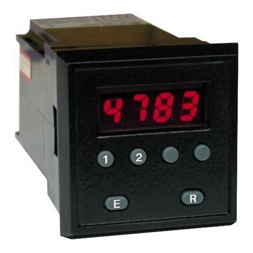 Redlion LIBT1E00 Libra Series 4-Digit Red LED Display 1-Preset Libra Timer 115 Volt AC/11 - 14 Volt DC Black