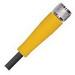Turck PKG/3M-6/S90 picofast ® AWM 3-Wire Cordset; 125 Volt, 24 AWG, 6 m, Female Straight x Wire Lead, Black