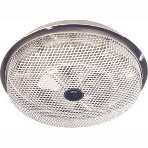 Broan Nu-Tone 154 Low Profile Fan-Forced Ceiling Heater; 120 Volt, 10.7 Amp At 120 Volt, 1250 Watt At 120 Volt, Surface/Ceiling Mount