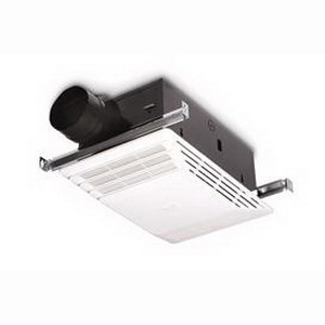 Broan Nu-Tone 658 Combination Bathroom Heater/Exhaust Fan 120 Volt, 11.9 Amp, 1428 Watt, 70 cfm At 0.10 Inch, 4.0 Sones, 4 Inch Round Duct, Ceiling Mount, White Grille,""