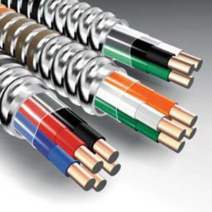 AFC Cable MC-ALU-12/3-SOL-BRN/ORG/GRY-1000FT MC Lite® ColorSpec® ID System Armored MC Cable; 480Y/277 Volt, 12 AWG, 1000 ft
