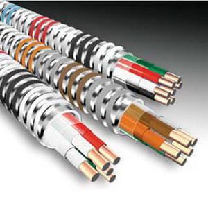 AFC Cable 12-2/12-2/12-1 MC-PLUS-LT-STR-250C Armored Cable; 120/208 Volt, 12 AWG, 250 ft