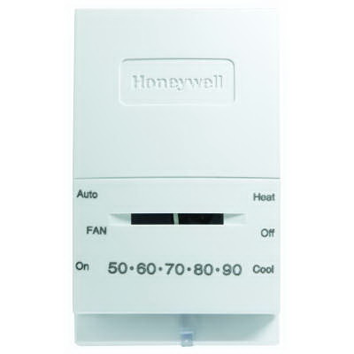 """""Honeywell T834N1002 Mercury Free 1H/1C Low Voltage Non-Programmable Thermostat 20 - 30 Volt AC, 45 to 95 deg F, Premier White,"""""" 68106"