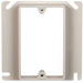Allied Moulded 9345 FiberglassBOX™ 4 Inch Raised Square Box Cover; 0.630 Inch Depth, 4.2 Cubic-Inch, PVC, Beige/Tan