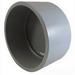 Cantex 5140041 End Cap; 5 Inch, PVC, Gray