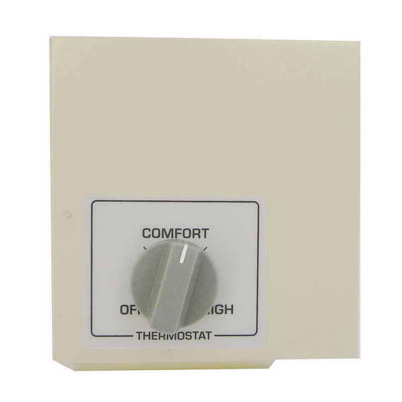 King Electrical KCVT-2L Rectangle Mechanical Non-Programmable Cove Heater Thermostat; 22 Amp, 120/208/240/277 Volt