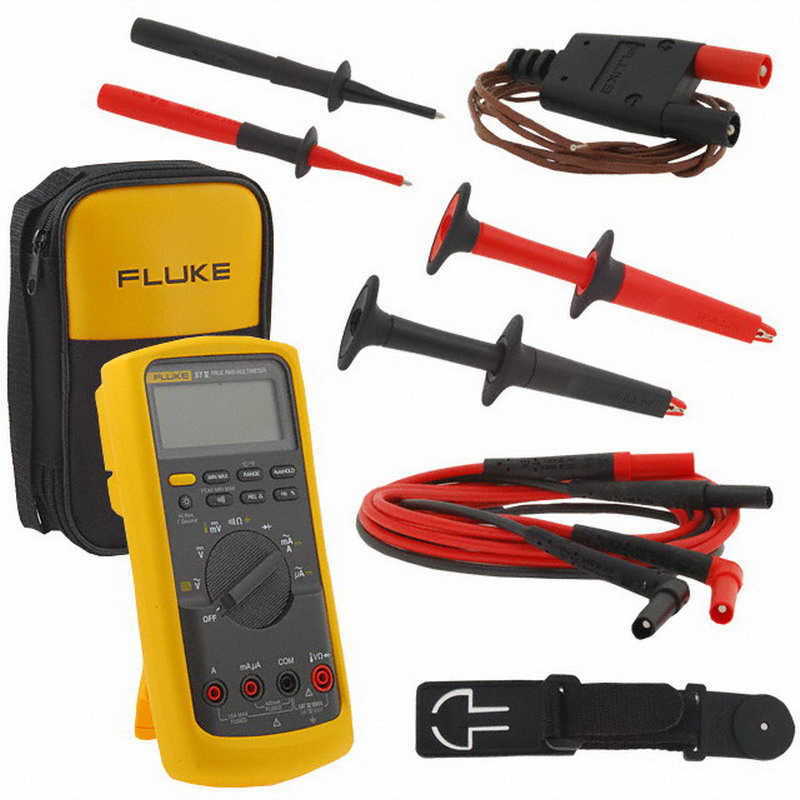 """Fluke FLUKE-87-5/E2-KIT Industrial Electrician True RMS Multimeter Combo Kit For Voltage, Current, Frequency and Capacitance Measurements For Everyday Use,"""""""