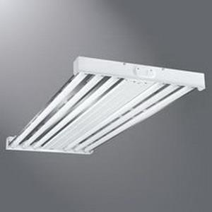 Cooper Lighting HBL454T5-UPL-L5 Metalux® HBL Series High Bay Industrial Fluorescent Open Luminaire; 120/277 Volt, 216 Watt, 4-Lamp, Baked White Enamel, Suspended Mount