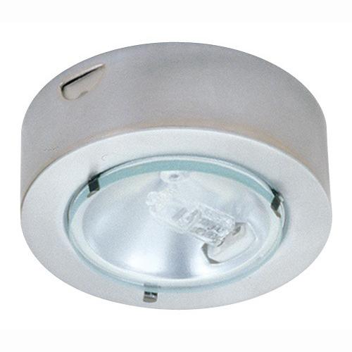 Elco E228W Mini Downlight; 12 Volt, 20 Watt, Clear Glass Lens, White, Surface Mount