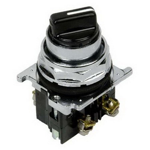 Eaton / Cutler Hammer 10250T21KB Maintained Non-Illuminated Selector Switch; 3 Position, 1 NO, Black