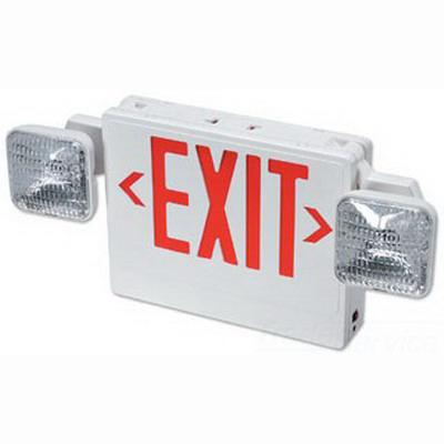 Philips Day-Brite VCRW Capri Omega Exit Sign; 6 Volt, 22 Watt, White