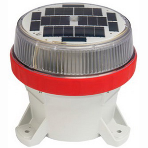 Edwards 825SOLARR Night Star Solar Beacon Without Switch Gray Base- Red Multi-Mode LED-