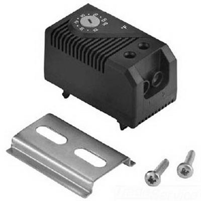 Hoffman ATEMNC Temperature Control Switch; 120 - 250 Volt AC, 15 Amp, Black
