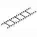 Hoffman LSS12BLK Ladder Rack Straight Section; Painted, 16 Gauge Tubular Steel, Black