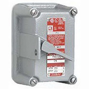 Hubbell Electrical / Killark FXS-28C Dead-End Tumbler Switch 120/277 Volt AC  3-Pole  Gray
