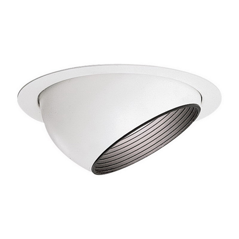 Lightolier 1122WH Step Baffle Eyeball; White Trim