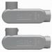 Midwest LR75 Condulet® Type LR Conduit Body; 2-1/2 Inch Rigid Hub, Acrylic Paint Die-Cast Aluminum