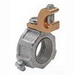Midwest GLL10-250C Insulated Throat Grounding Bushing; 4 Inch, Malleable Iron, Copper Lug, Threaded x Screw