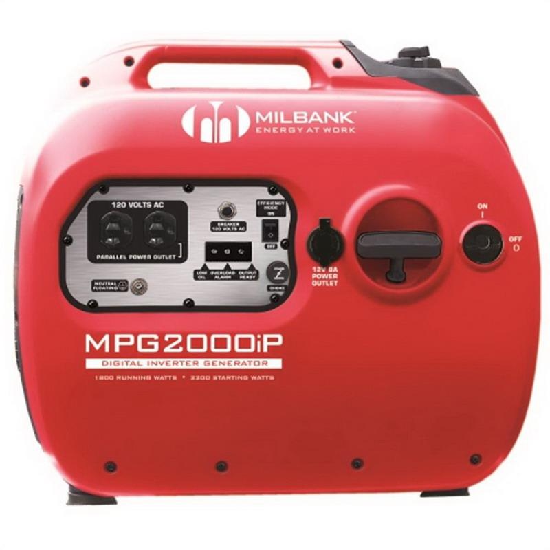 Milbank MPG2000IP Digital Inverter Portable Generator; 79 cc, 120 Volt AC, 2000 Watt