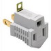 Pass & Seymour 697-I Single to Triple Plug-In Outlet Adapter; 125 Volt AC, 5 Amp, Ivory