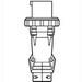 Pass & Seymour PS420P5-W Watertight Plug; 600 Volt AC, 20 Amp, 3-Pole, 4-Wire, Black