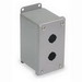 Wiegmann PBGX2 Push Button Enclosure; 14 Gauge Steel, ANSI 61 Gray, For Holding All Standard Brands Of Pushbuttons, Switches and Pilot Lights