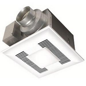 Panasonic FV-11VQL5 WhisperLite™ Fan/Light Combination; 120 Volt, 0.20 Amp At 110 cfm/0.19 Amp At 90 cfm, 110 cfm At 0.1 Inch/90 cfm At 0.25 Inch, 4 Inch Duct, 0.5 Sones At 110 cfm/0.6 Sones At 90 cfm, Ceiling Mount, White Grille