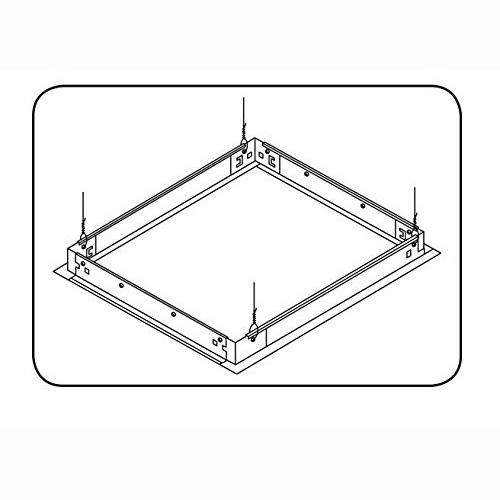 GE Lighting GESK09 Drywall Mount Kit; 1 ft x 4 ft Nominal, Backed White Enamel 0.050 Inch Extruded Aluminum