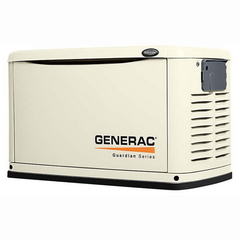 Generac Power Systems 6730 Guardian® Air-Cooled Standby Generator; 999 cc, 240 Volt, 20 kilowatt, Steel Enclosure