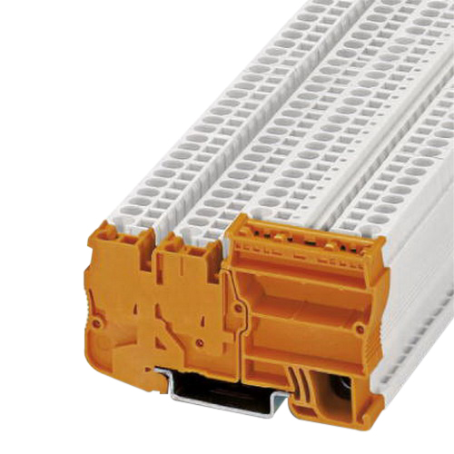 Phoenix Contact Phoenix 3209196 STIO-IN 2,5/3 OG Triple Level Power Terminal Block; 250 Volt, 18 Amp, 4 Contacts, Orange