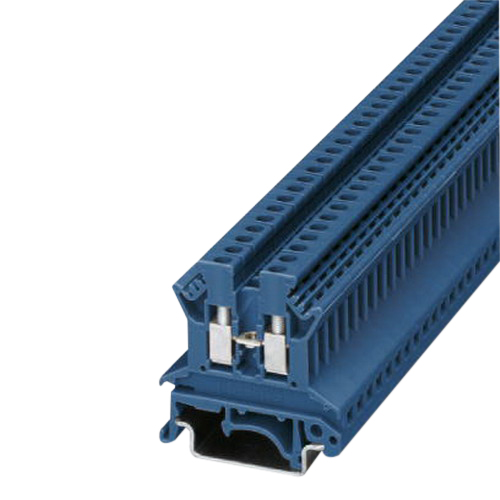 Phoenix Contact Phoenix 3003350 UK 2,5 N BU Single Level Feed-Through Terminal Block; 800 Volt, 24 Amp, 2 Contacts, Screw Connection, Blue