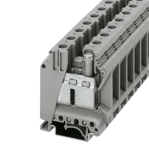 Phoenix Contact Phoenix 3008012 UK 35 Single Level Feed-Through Terminal Block; 1000 Volt, 125 Amp, 2 Contacts, Screw Connection, Gray