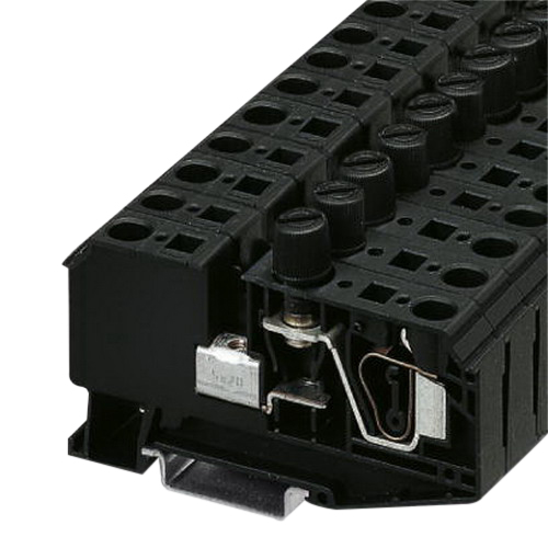 Phoenix Contact Phoenix 3025040 ZFK 6-DREHSI G / 5 x 20 Single Level Fuse Modular Terminal Block; 800 Volt, 10 Amp, 2 Contacts, Black