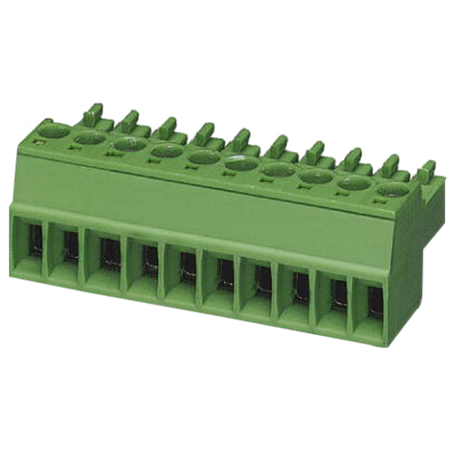 Phoenix Contact Phoenix 1840379 MC 1,5/-ST Printed-Circuit Board Connector; 160 Volt, 8 Amp, 3.5 mm Space, 3 Positions, Screw Connection, Green