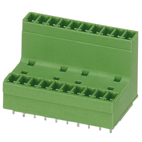 Phoenix 1830431 MCDV 1,5/5-G Base Strip; 160 Volt, 8 Amp, 3.81 mm Space, 5 Positions, Green