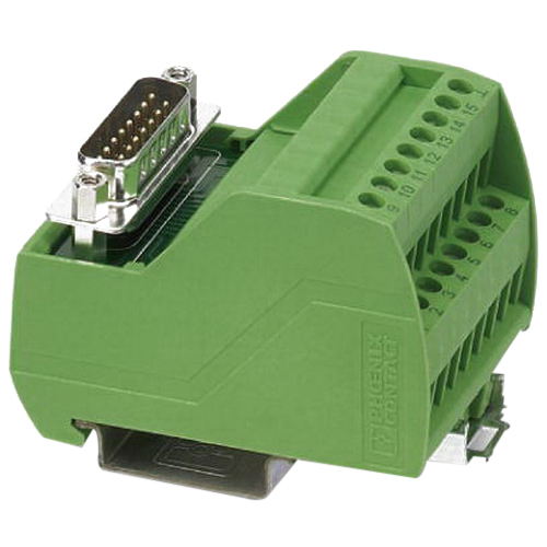Phoenix 2315120 VIP-2/SC/D15SUB/M Varioface Interface Module; 125 Volt AC/DC, 2 Amp, 15 Positions, Screw Connection