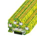 Phoenix Contact Phoenix 3210596 PTTB 2,5-PE Double Level Protective Conductor Terminal Block; 4 Contacts, Push-In Connection, Green/Yellow