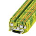 Phoenix Contact Phoenix 3209565 PT 2,5-TWIN-PE Single Level Ground Modular Terminal Block; 3 Contacts, Push-In Connection, Green/Yellow