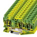 Phoenix Contact Phoenix 3035302 ST 10-TWIN-PE Single Level Ground Terminal Block; 57 Amp, 3 Contacts, Green/Yellow