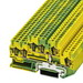 Phoenix Contact Phoenix 3038532 STTB 2,5-TWIN-PE Double Level Protective Conductor Terminal Block; 6 Contacts, Green/Yellow