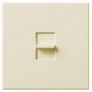 Lutron N-2000-LA Nova® Single Pole Large Control Slide-To-Off Dimmer; 120 Volt AC, 2000 Watt, Incandescent/Halogen, Light Almond