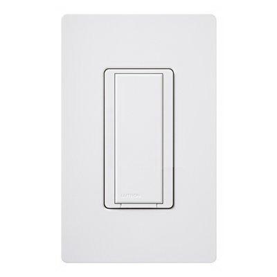 Lutron MA-AS-WH Maestro® Companion Digital Switch; 1-Pole, 120 Volt AC, 8 Amp Light, 3 Amp Fan, White