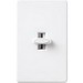 Lutron GL-600P-WH Glyder® Single Pole Preset Slide Dimmer; 120 Volt AC, 600 Watt, Incandescent/Halogen, White