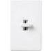 Lutron GL-603P-WH Glyder® Single Pole 3-Way Preset Slide Dimmer; 120 Volt AC, 600 Watt, Incandescent/Halogen, White