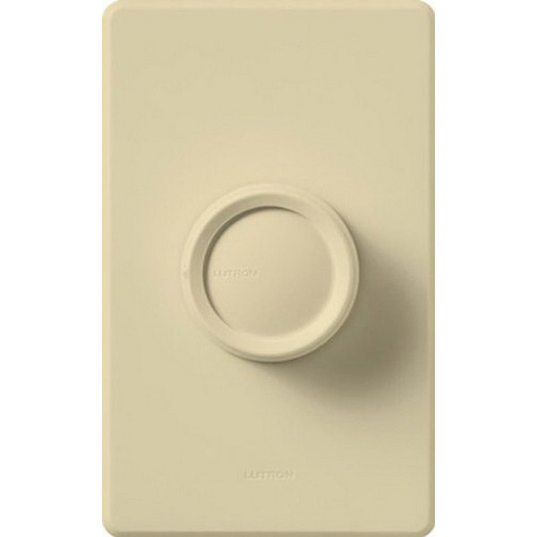 Lutron FSQ-2F-IV Quiet Three Speed Fan Control 120 Volt AC  1.5 Amp  Single Pole  Rotary On/Off  Ivory