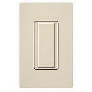 Lutron MA-AS-LA Maestro® Companion Digital Switch; 1-Pole, 120 Volt AC, 8 Amp Light, 3 Amp Fan, Light Almond